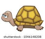 cute sleepy turtle cartoon... | Shutterstock .eps vector #1046148208