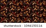 flowery print. oriental... | Shutterstock .eps vector #1046150116
