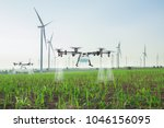 Agriculture drone fly to spray...