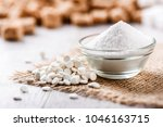 white stevia pills sugar in... | Shutterstock . vector #1046163715