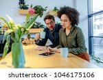 shot of a young couple talking...   Shutterstock . vector #1046175106
