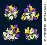 flower bouquet icon for floral... | Shutterstock .eps vector #1046184286