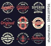 vintage original typography set....   Shutterstock .eps vector #1046185936