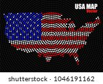 abstract map usa of radial dots ... | Shutterstock .eps vector #1046191162