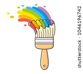 paint brush with different... | Shutterstock .eps vector #1046196742