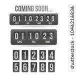 countdown timer. clock counter. ... | Shutterstock .eps vector #1046216836