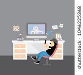 vector creative office room... | Shutterstock .eps vector #1046225368