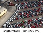 photo aerial of cars to be... | Shutterstock . vector #1046227492