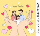 happy family illustration | Shutterstock .eps vector #1046229445