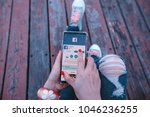 bangkok thailand february 17... | Shutterstock . vector #1046236255