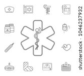 medical snake symbol icon....   Shutterstock .eps vector #1046237932