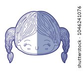 blue shading silhouette of...   Shutterstock .eps vector #1046241076
