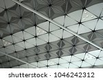 white ceiling with neon light... | Shutterstock . vector #1046242312