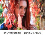 close up of a sad and... | Shutterstock . vector #1046247808