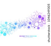 abstract medical background.... | Shutterstock .eps vector #1046249305