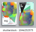 covers templates set with... | Shutterstock .eps vector #1046252575