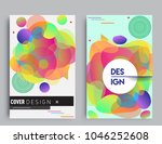 covers templates set with... | Shutterstock .eps vector #1046252608