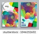 covers templates set with... | Shutterstock .eps vector #1046252632