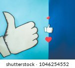 top shot social media... | Shutterstock . vector #1046254552