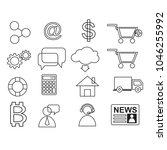 business shopping outline icon... | Shutterstock .eps vector #1046255992