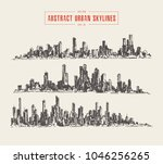 abstract big city skyline ... | Shutterstock .eps vector #1046256265