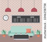 coffee shop interior | Shutterstock .eps vector #1046258758