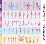 people infographic activities | Shutterstock .eps vector #1046259328