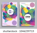 covers templates set with... | Shutterstock .eps vector #1046259715