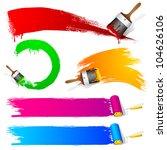 illustration of set of colorful ... | Shutterstock .eps vector #104626106