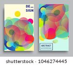 covers templates set with... | Shutterstock .eps vector #1046274445