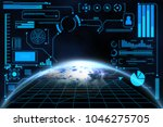 abstract business global... | Shutterstock . vector #1046275705