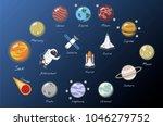 the solar system vector   Shutterstock . vector #1046279752