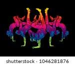group of people dancing  dancer ... | Shutterstock .eps vector #1046281876