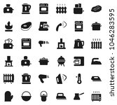 flat vector icon set   iron... | Shutterstock .eps vector #1046283595