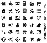 flat vector icon set   laptop... | Shutterstock .eps vector #1046283742