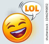 emoticon laughing out loud. lol ... | Shutterstock .eps vector #1046290852
