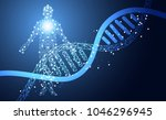 abstract health medical science ... | Shutterstock .eps vector #1046296945