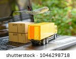 air courier   freight forwarder ... | Shutterstock . vector #1046298718