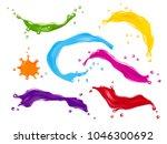 set of color splashes  paint... | Shutterstock . vector #1046300692