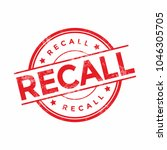 recall stamp illustration...   Shutterstock .eps vector #1046305705