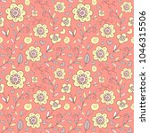 seamless pattern with cartoon... | Shutterstock .eps vector #1046315506
