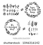 wreath with inspirational quote.... | Shutterstock .eps vector #1046316142