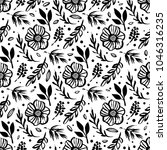 botanical seamless pattern with ... | Shutterstock .eps vector #1046316235