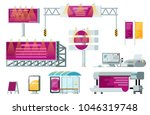 outdoor advertising set... | Shutterstock .eps vector #1046319748