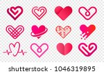 Heart Logo Vector Icons Set....