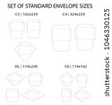 set of 4 standard types of... | Shutterstock .eps vector #1046330125