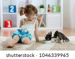 three years old child toddler... | Shutterstock . vector #1046339965