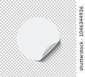 round white blank sticker with... | Shutterstock .eps vector #1046344936
