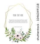 stylish floral vector design...   Shutterstock .eps vector #1046349118
