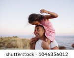 father and daughter having fun...   Shutterstock . vector #1046356012